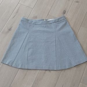 Michael Kors Black & White Striped Mini Skirt